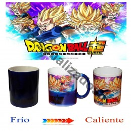 taza magica negra Dragon Ball Super Goku Vegeta Goten Trunks Ghoan - Magic mug M1