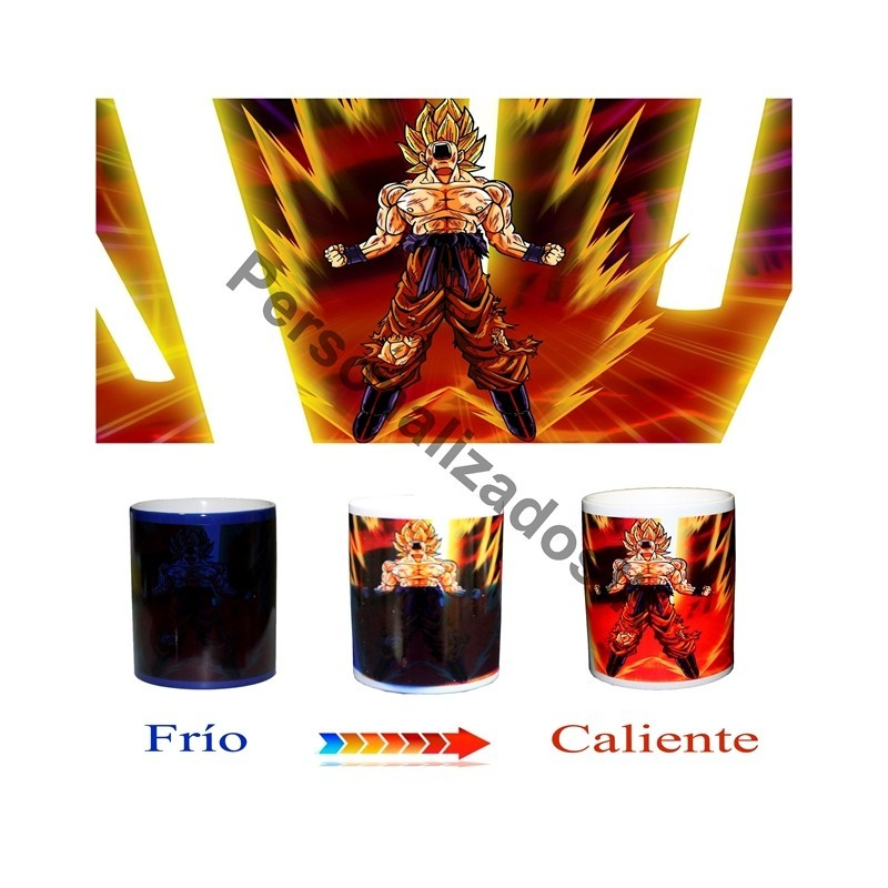 Taza magica Dragon Ball Goku super saiyan
