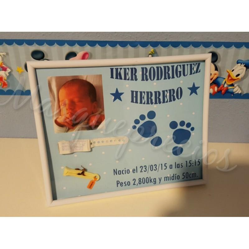 Lámina recuerdo de nacimiento bebe niña/niño bodas bautizos regalo detalle