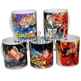 Lote 5 tazas diferentes  Dragon Ball Super Goku Vegeta Goten Trunks Ghoan - Magic mug