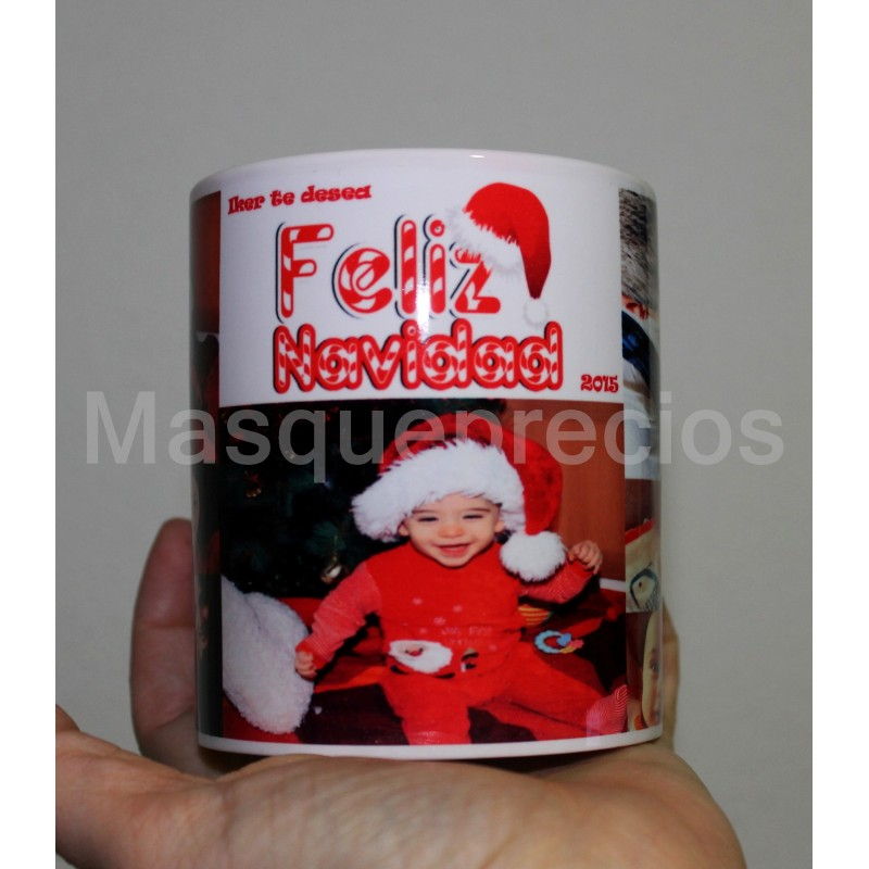 Taza Navidad personalizada con tus fotos