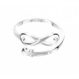 Anillo ajustable en plata de ley 925 infinito, especial regalo amistad pareja o mama