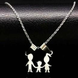 Colgante Acero Inoxidable familia niño/niña regalo mama mujer madre