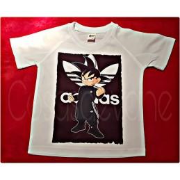 Camiseta tecnica personalizada con logo+goku detallazo original