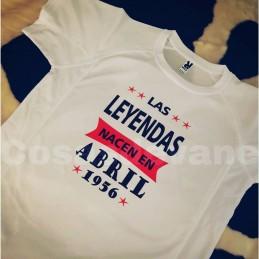 Camiseta tecnica personalizada con tu mes y año ,ideal regalo cumpleaños