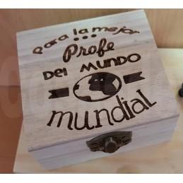Caja de madera personalizada profesores