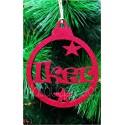 Deciración árbol de navidad en fieltro