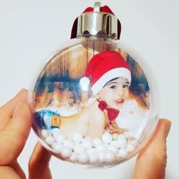 Bola Navidad con foto por los 2 lados