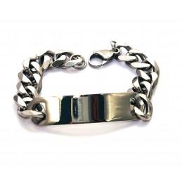 Esclava pulsera de acero inoxidable gruesa para hombres