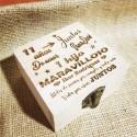 Caja de madera personalizada Historia de amor