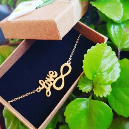 Pulsera love+infinito/amor infinito Color oro