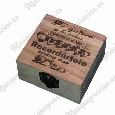 Caja madera grabada amor mini joyero guarda recuerdos caja regalos san valentin