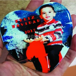 Imán de cerámica personalizado con foto o texto.