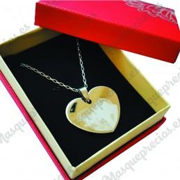 Colgante de acero corazon fotograbado 30 x 35 mm