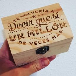 Caja madera grabada amor joyero guarda recuerdos caja regalos san valentin