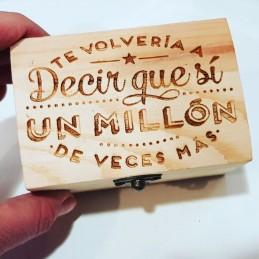Caja madera llavero grabada amor joyero guarda recuerdos caja regalos san valentin