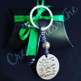 Llavero personalizado especial profesores, puño y letra de los niños