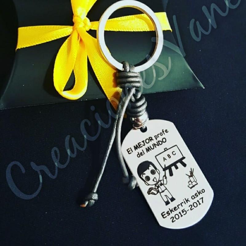 Llavero personalizado especial profesores, regalo de los niños con sus nombres Opcional