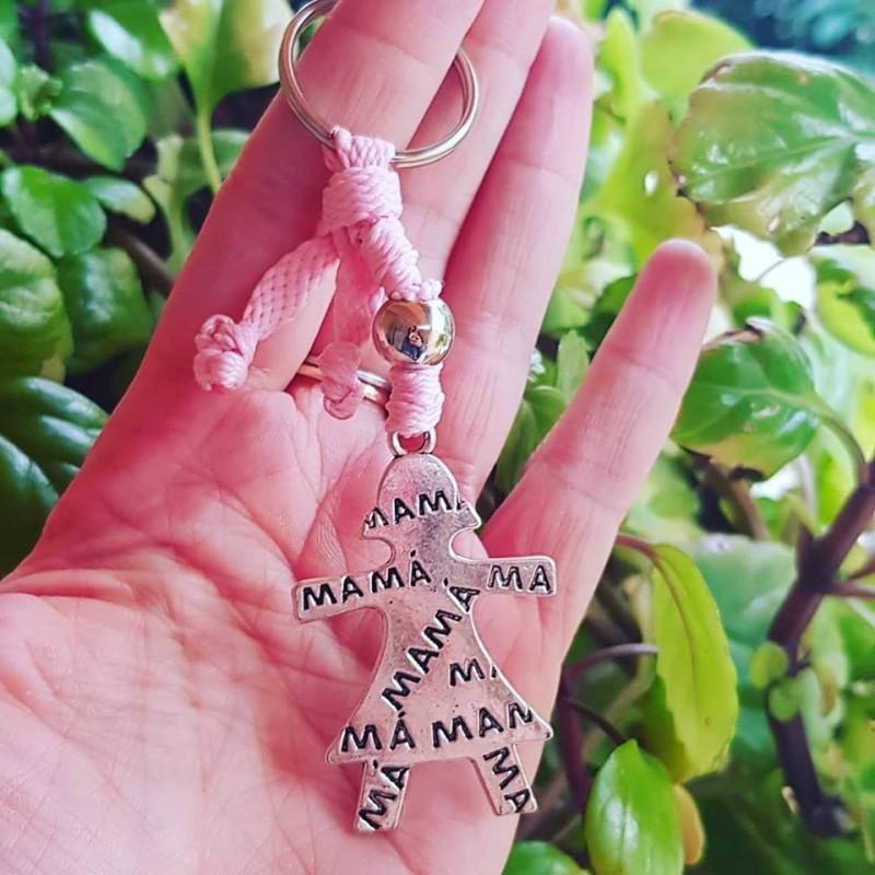 Llavero regalo ideal mamá, silueta madre