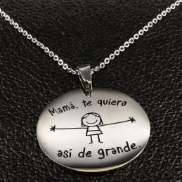 Colgante medalla chapa militar fina ideal regalo a hija,mama familia en acero