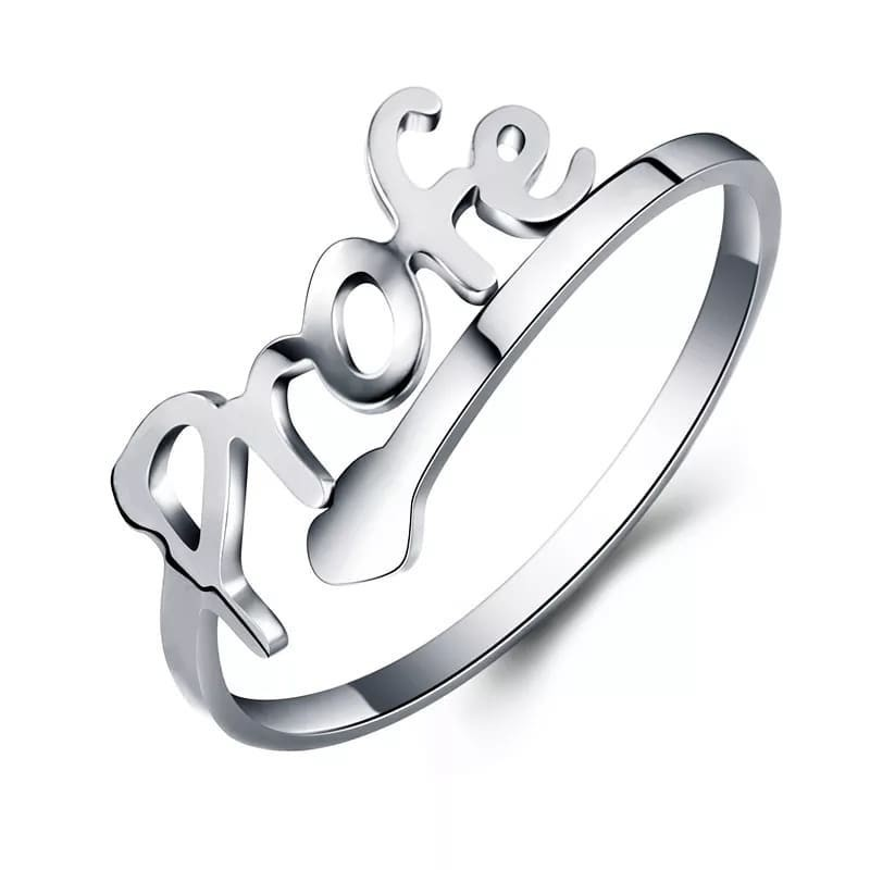 Anillo profesora ajustable en acero inoxidable