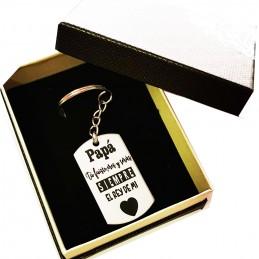 Llavero regalo para papá en acero inoxidable