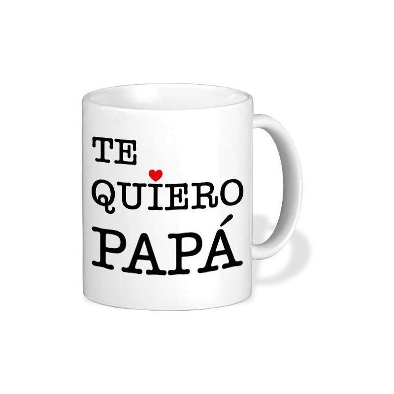 Taza de cerámica regalo padre te quiero papa personalizada con foto