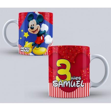Taza Mickey Mouse cumpleaños niños 350ml