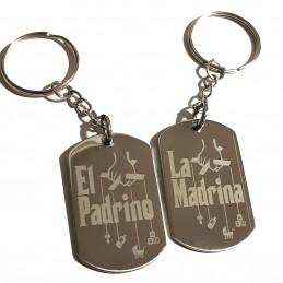 Dúo de llaveros para Padrino y Madrina en eventos como bautizos y comuniones