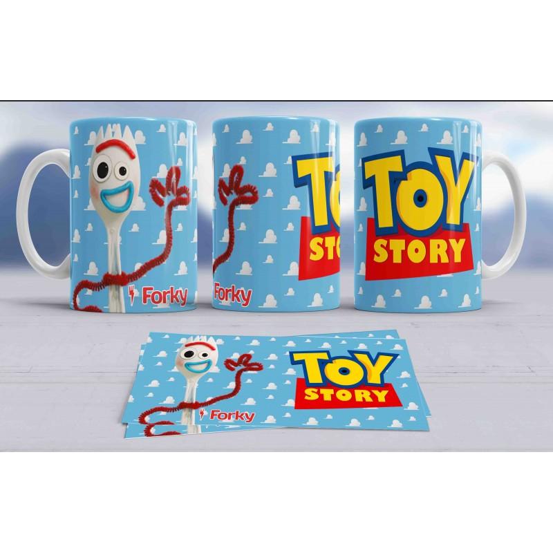 Taza divertida del personaje Forky de Toy Story