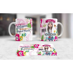 Taza especial para vendedoras-dependientas y marketing