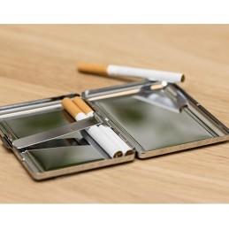 Pitillera guardar tabaco,regalo ideal fumadores personalizada en acero inoxidable