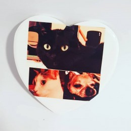Imán de ceramica en forma de corazón ideal para eventos