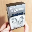Pitillera guardar tabaco,regalo ideal fumadores aluminio