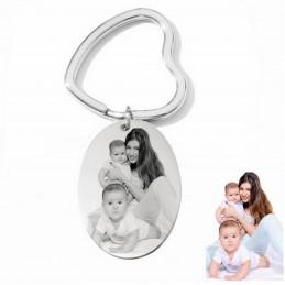 Llavero con foto grabado acero personalizado con tu foto