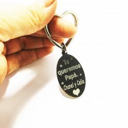AGOTADO-Llavero con foto grabado acero personalizado con tu foto