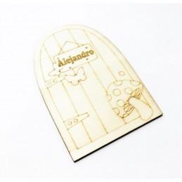 Puerta ratoncito Pérez personalizada