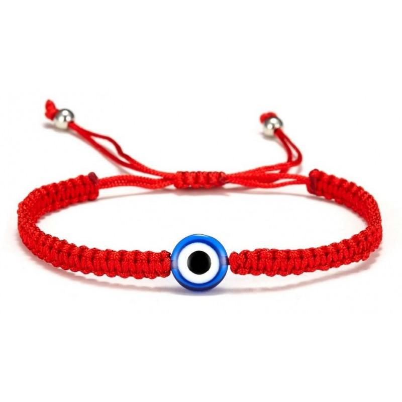 Pulsera macrame amuleto mal de ojo para niños y adultos, con ojo turco