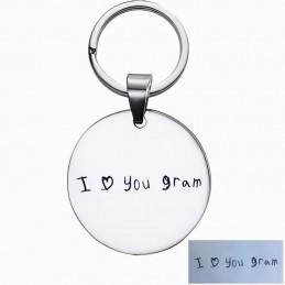 Llavero con el dibujo grabado de tu niño en puño y letra.