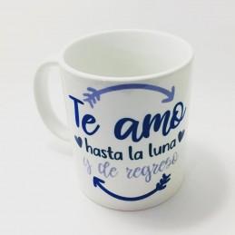 Taza ceramica Te amo hasta la luna