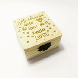 Caja de madera para recuerdos de tú mascota