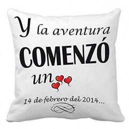 Cojin y la aventura comenzo un.. regalo enamorados