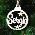 Bola de Navidad personalizadas en madera para adornar el árbol