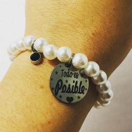 Pulsera perlas-todo es posible