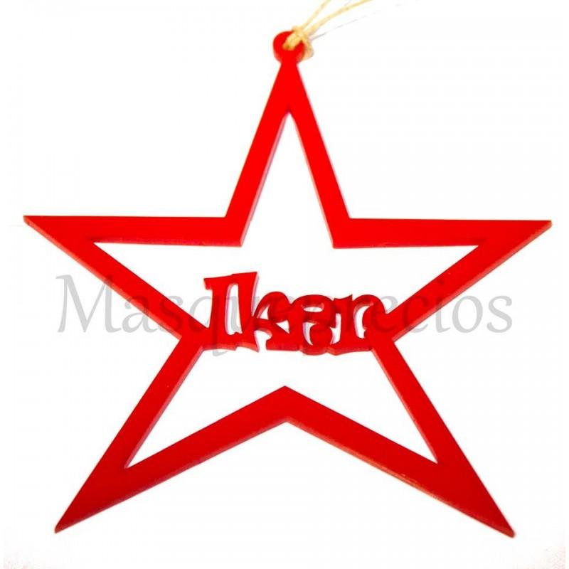 Estrella para colgar árbol de Navidad en metacrilato