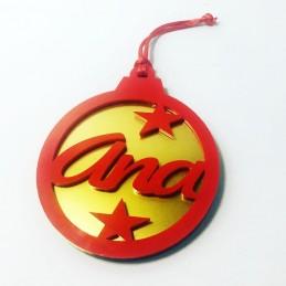 Adorno de Navidad bicolor personalizado