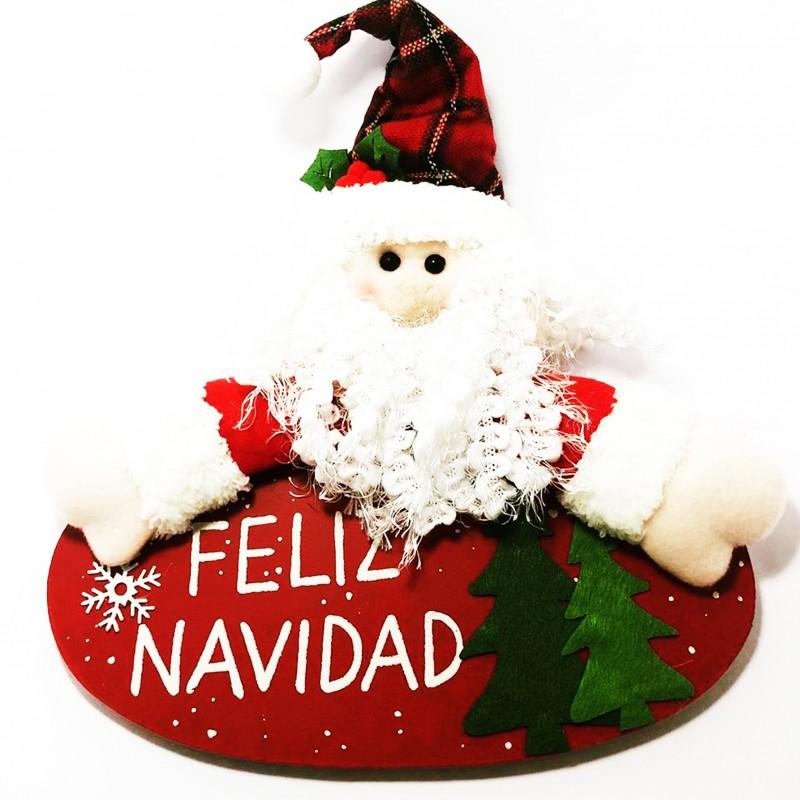 Adorno Papá Noel decoración puerta del hogar grande