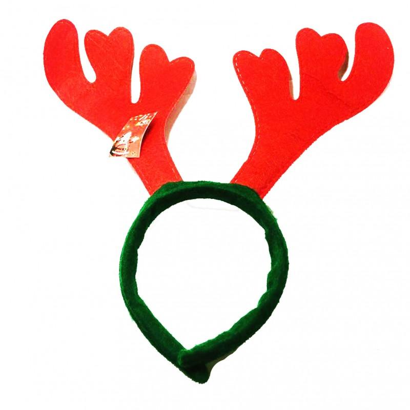 Diadema de Cuernos de Reno para las fiestas de Navidad