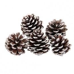 14 Piñas de Navidad Piñas de Punta de Nieve con Cordel para Decoración de Árbol de Navidad