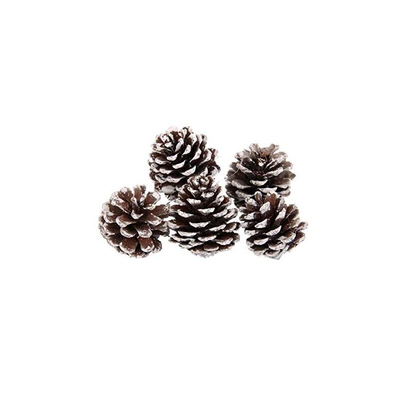 Piñas de Navidad Punta de Nieve - Decoración de Árbol de Navidad